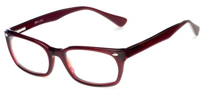 Angle of Talbott by felix + iris in Burgundy Red, Women's and Men's Square Reading Glasses