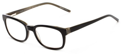 Angle of The Thyme in Black/Green, Women's and Men's Retro Square Reading Glasses