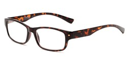 Angle of The Timmy in Tortoise, Women's and Men's Rectangle Reading Glasses
