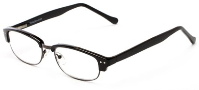 Angle of The Burton in Black/Grey, Women's and Men's Browline Reading Glasses