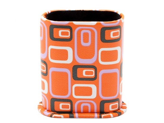 Angle of Upright Reading Glasses Holder in Orange Geometric, Women's and Men's  Hard Cases