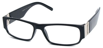 Angle of The Contemporary in Black, Women's and Men's Rectangle Reading Glasses
