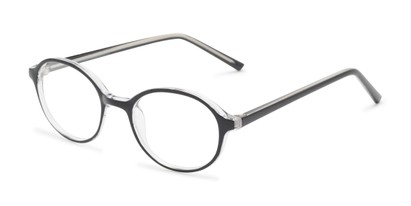 Angle of The North Customizable Reader in Glossy Black, Women's and Men's Round Reading Glasses