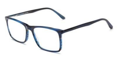Angle of The Vanderbilt Signature Reader in Blue, Women's and Men's Square Reading Glasses