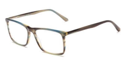 Angle of The Vanderbilt Signature Reader in Green, Women's and Men's Square Reading Glasses