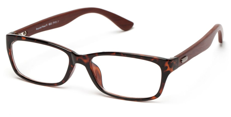 Wooden Reading Glasses Made from Recycled Material