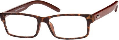 Angle of The Expedition Recycled Wood Reader in Matte Tortoise, Women's and Men's Rectangle Reading Glasses