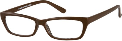 Angle of The Cabin in Dark Brown, Women's and Men's Rectangle Reading Glasses