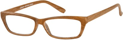 Angle of The Cabin in Light Brown, Women's and Men's Rectangle Reading Glasses