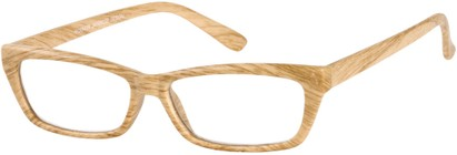 Angle of The Cabin in Tan, Women's and Men's Rectangle Reading Glasses