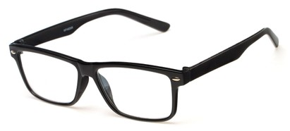 Angle of The Redwood in Black, Women's and Men's Retro Square Reading Glasses