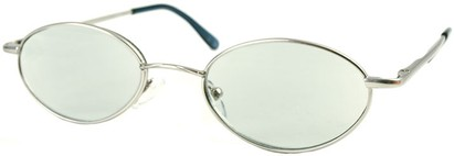Angle of The Carver Tinted Reader in Silver with Light Grey Lenses, Women's and Men's