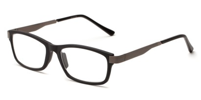 Angle of The Wall Street in Black, Women's and Men's Rectangle Reading Glasses