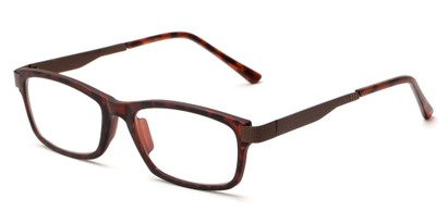 Angle of The Wall Street in Tortoise, Women's and Men's Rectangle Reading Glasses