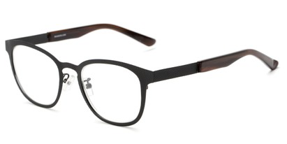 Angle of The Warwick Signature Reader in Black/Brown, Women's and Men's Square Reading Glasses