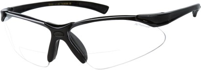 Angle of X Power Bifocal Safety Glasses with Interchangeable Lenses in Glossy Black, Women's and Men's