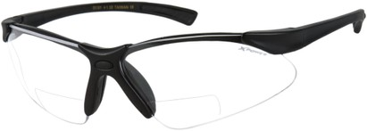 Angle of X Power Bifocal Safety Glasses with Interchangeable Lenses in Matte Black, Women's and Men's