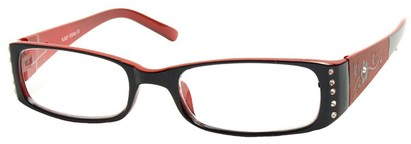 Angle of The Yolanda in Black and Red Frame, Women's and Men's
