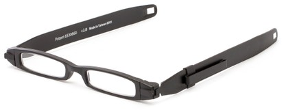 Angle of The Twistable Folding Reader  in Black, Women's and Men's Retro Square Reading Glasses