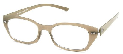 Angle of The Dublin Flexible Reader in Olive, Women's and Men's Square Reading Glasses